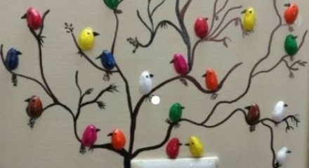 Antep fıstıkları ile duvar süsleme