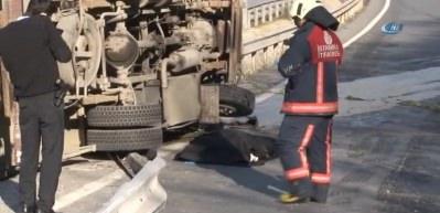Dizi setine jeneratör taşıyan kamyonet devrildi: 1 ölü