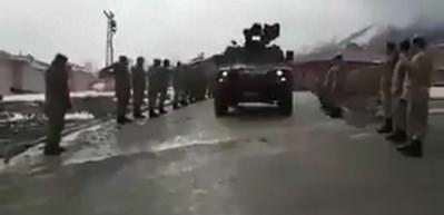 Komandolar Afrin'e böyle uğurlandı