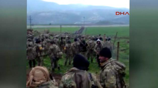 Afrin'e karadan girilme anı görüntülendi