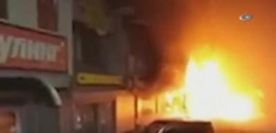 Rusya'da süpermarkette yangın: yaralılar var