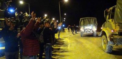 Vatandaşlar Mehmetçiği Afrin'e böyle uğurladı