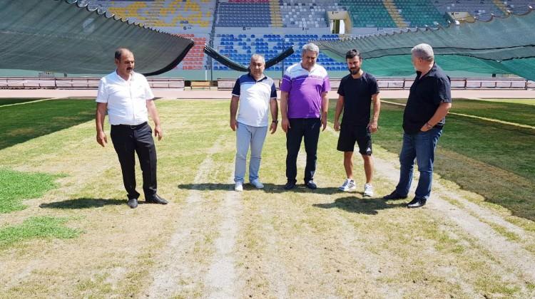 GAP Stadyumu'nun çimleri bakımsızlıktan kurudu