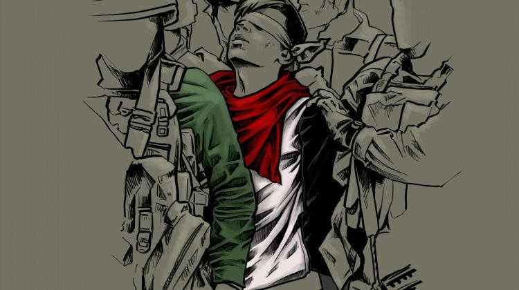 """Kudüs direnişçisi """"Cuneydi"""" resmedildi..."""