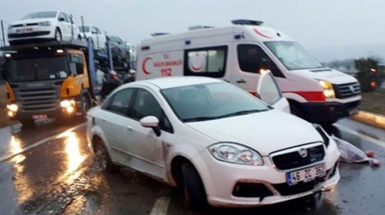 Taziye dönüşü kaza: 1 ölü, 2 yaralı