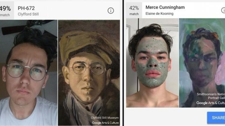 Google sanat dünyasındaki ikizinizi bulacak