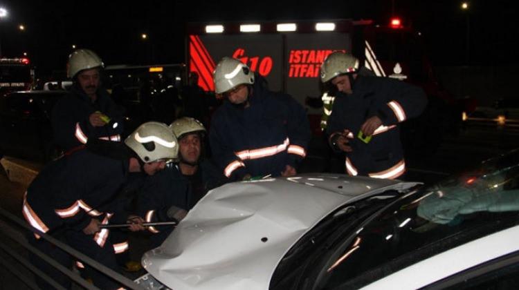 Haliç Köprüsü'nde kaza: 2 yaralı
