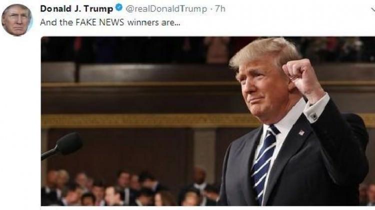 """Trump """"yalan habercilik"""" ödüllerini açıkladı!"""