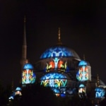 Sultan Ahmet Camii'nde video mapping