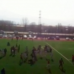 Futbol sahası ringe döndü! Yumruklar konuştu...