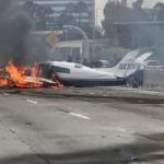 ABD'de uçak düştü! O anlar kamerada