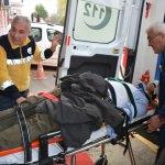 İnebolu'da kamyon devrildi: 1 yaralı