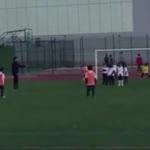 Cristiano Jr'dan babasını kıskandıran frikik golü