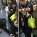 Metroda koltuk kapmak için kendini yere attı!