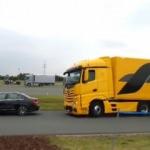Mercedes TIR'ın acil fren sistemi çalışmayınca...
