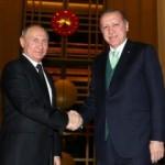 Erdoğan-Putin görüşmesinden kareler