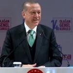 Erdoğan konuşurken bebek ağlamaya başlayınca...