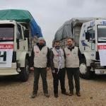 Suriyelilere 4 tır yardım malzemesi