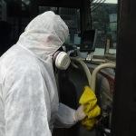 Ereğli'de toplu taşıma araçları dezenfekte ediliyor