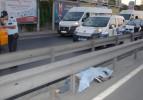 Kaskını takmayan motosiklet sürücüsü öldü