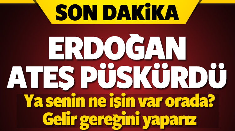 Erdoğan'dan çok sert Kerkük tepkisi!