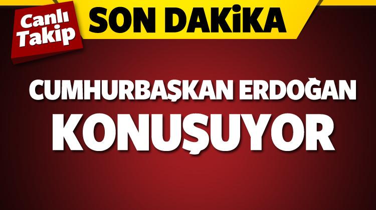Erdoğan açıklama yapıyor...