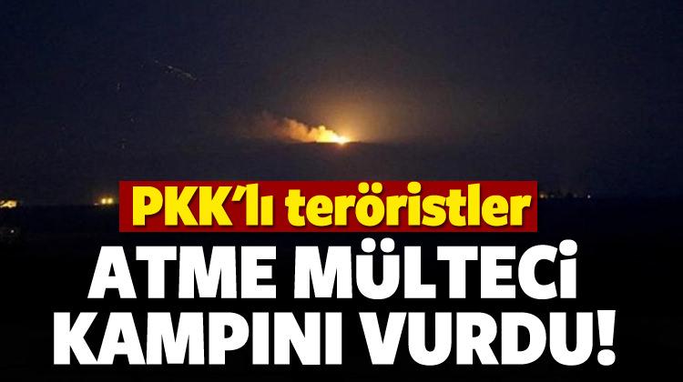 PKK'lı teröristler Atme mülteci kampını vurdu