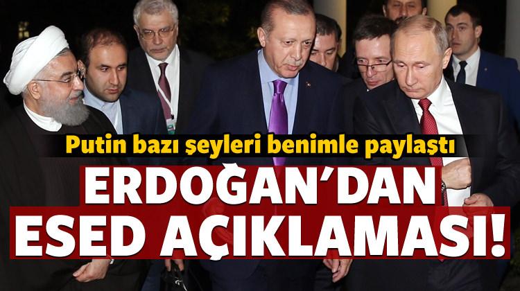 Erdoğan'dan Esed sorusuna net yanıt!