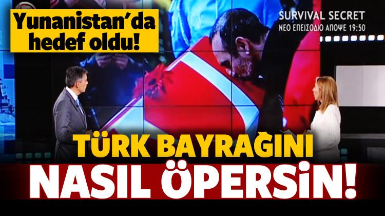 Türk bayrağını öpen Leonidis hedef oldu!