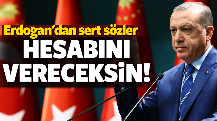 Erdoğan'dan Kılıçdaroğlu'na sert sözler...