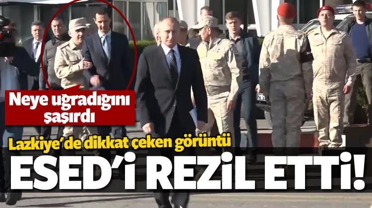 Putin'in Lazkiye ziyaretinde dikkat çeken ayrıntı!