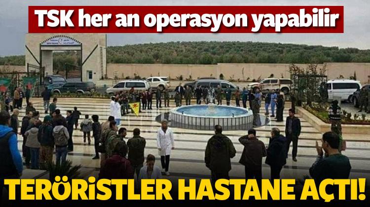 Teröristler PKK hastanesi açtı!