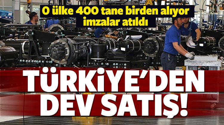 Türkiye'den dev satış! İmzalar atıldı