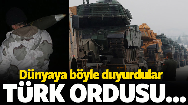 Bu fotoğraflarla duyurdu! Türk ordusu...