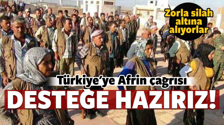 Türkiye'ye Afrin çağrısı: Destek vermeye hazırız!