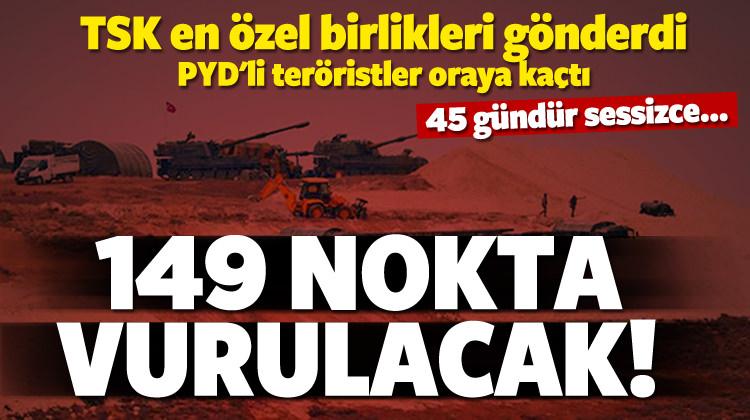 YPG tam 45 gündür izleniyor! 149 nokta belirlendi