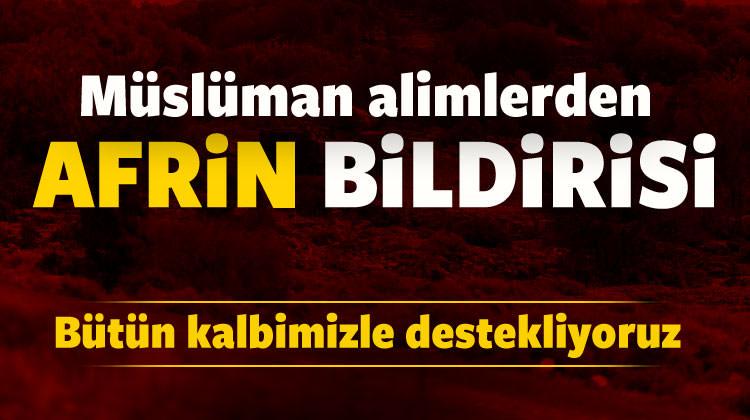 Müslüman alimlerden Afrin bildirisi