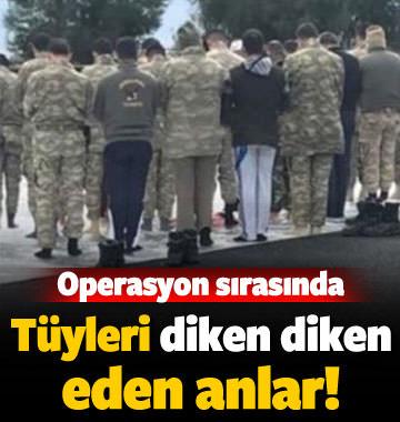 Afrin operasyonunda birlikler namaza durdu