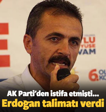 AK Parti'den istifa etmişti...