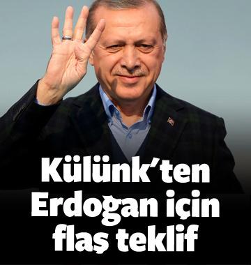 Metin Külünk: Erdoğan'a gazilik unvanı verilsin