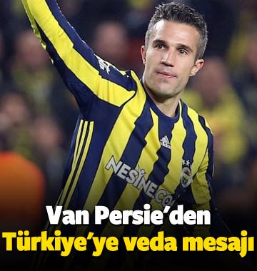 Van Persie'den Türkiye'ye veda mesajı